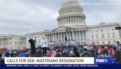 Segment about calls for resignation of state Sen. Doug Mastriano screengrab