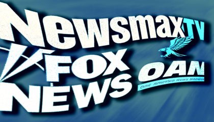 Newsmax TV, Fox News, and OAN logos