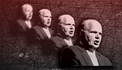 Image of Rush Limbaugh fading away