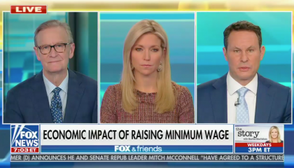 "conservative media continue to fixate on potential job loss and fearmonger that raising the minimum wage would ""crush"" small businesses and hurt people ""at the very bottom"""