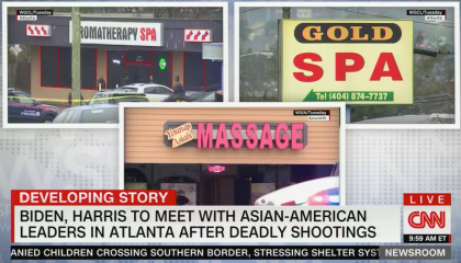 In 13 hours of cable news coverage about the Atlanta spa shootings, there were only four mentions of the context of gun violence epidemic in America
