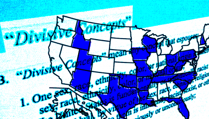 Image of the US with states highlighted