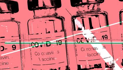 Covid vaccine red
