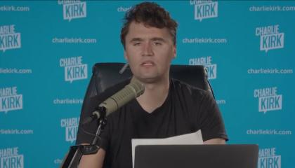 """Charlie Kirk: """"What they see is political upside, 300 or 400 pregnant women, potential people to get on government assistance, bring them all in."""""""