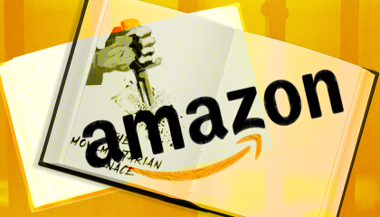 Picture of book with Amazon's logo superimposed over it