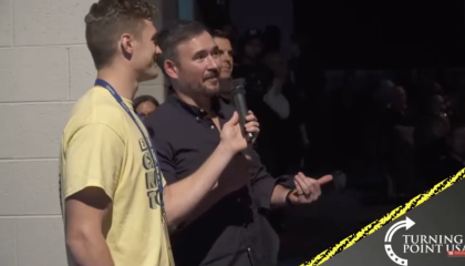 TPUSA audience member asks Charlie Kirk when they can start using the guns and kill people