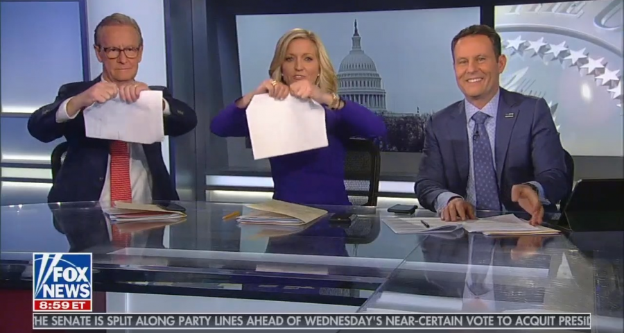 Fox & Friends ripping up papers