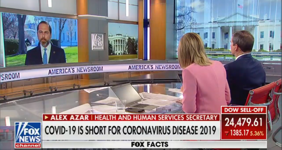 Secretary Azar on Fox News' America's Newsroom to discuss coronavirus