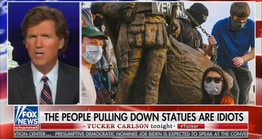 Fox News' Tucker Carlson Tonight for June 22, 2020 covers toppling of statues