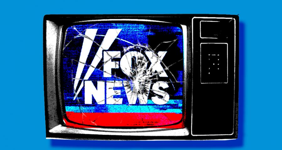 Broken TV with Fox logo