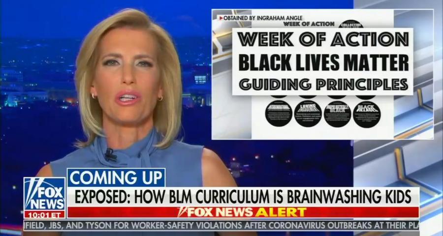 Ingraham Black Lives matter brainwashing