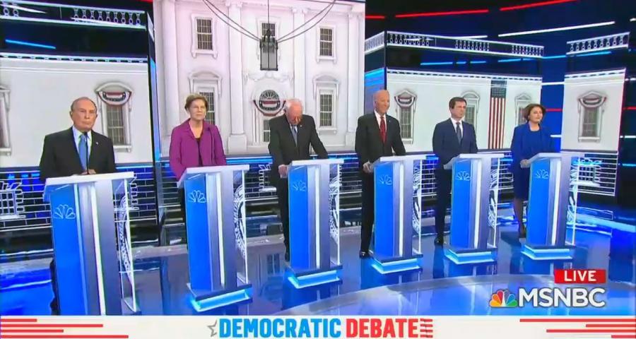 Democratic debate 2/19/20