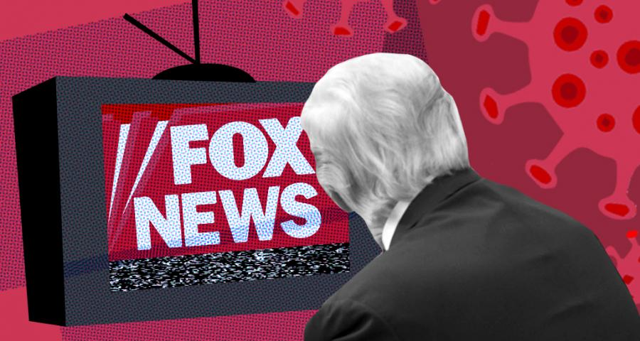 Trump watching Fox News amid pandemic