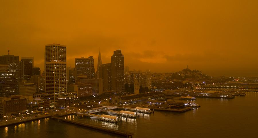 wildfire / climate change / orange sky / san francisco / 9/9/20