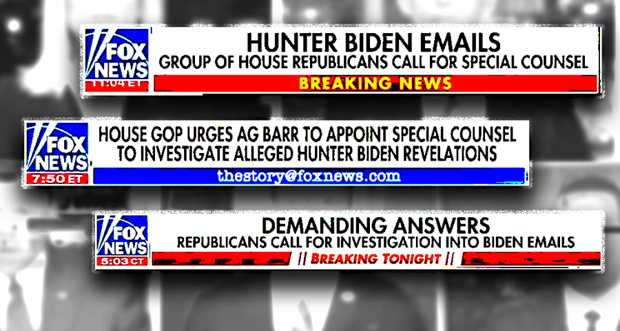 Fox News chyrons about Hunter Biden