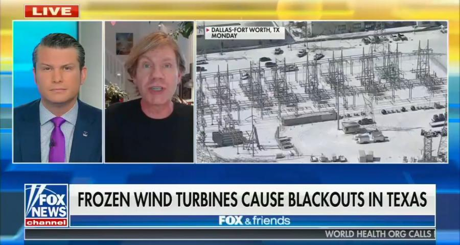 Fox News' Fox & Friends for February 16, 2021: Frozen wind turbines cause blackouts in Texas