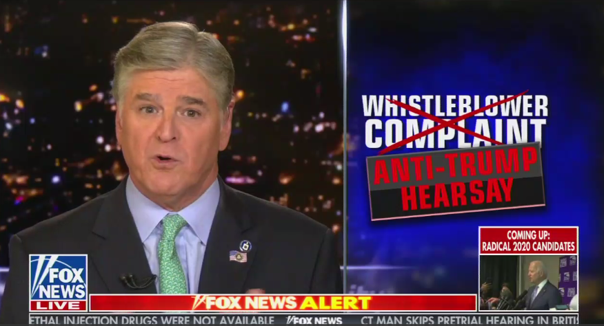Sean Hannity Anti Trump Hearsay