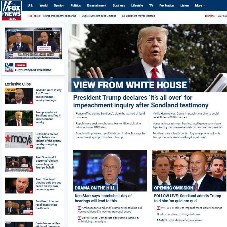 The unbearable impeachment propaganda of FoxNews.com