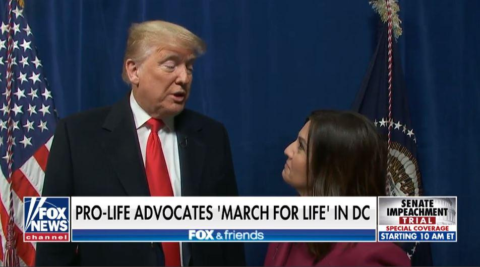 Trump speaking with Campos-Duffy