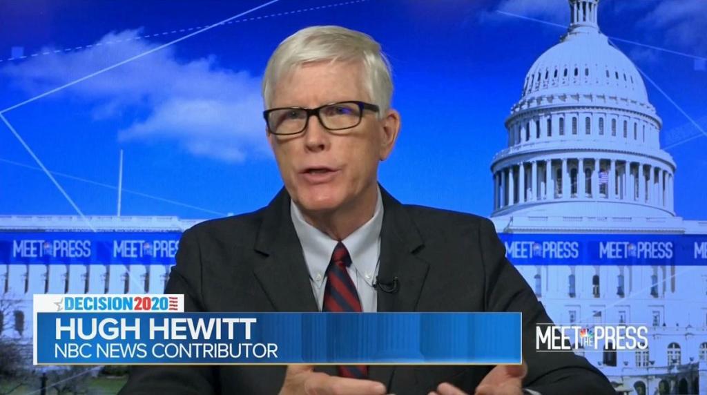 An image of Hugh Hewitt on Meet the Press