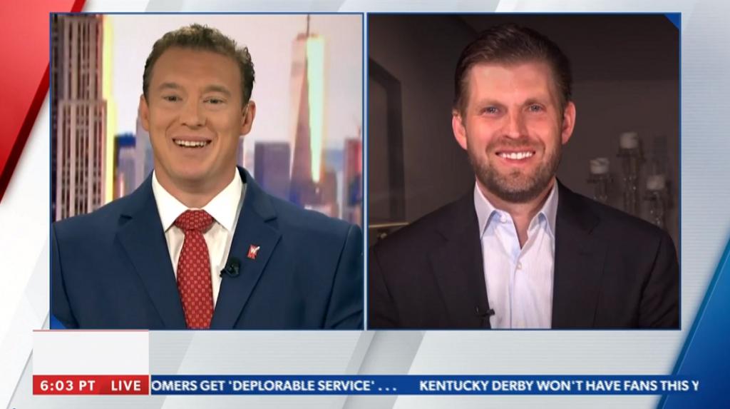 An image of Carl Higbie and Eric Trump