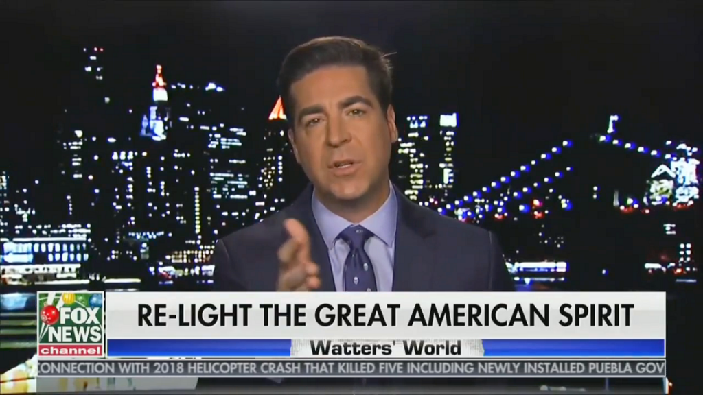 Jesse Watters from his December 26, 2020, show
