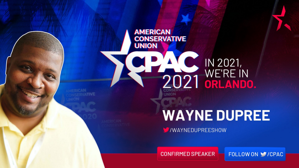 CPAC promotional image for Wayne Dupree