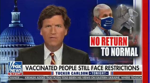 Tucker Carlson hosts Tucker Carlson Tonight on Fox News
