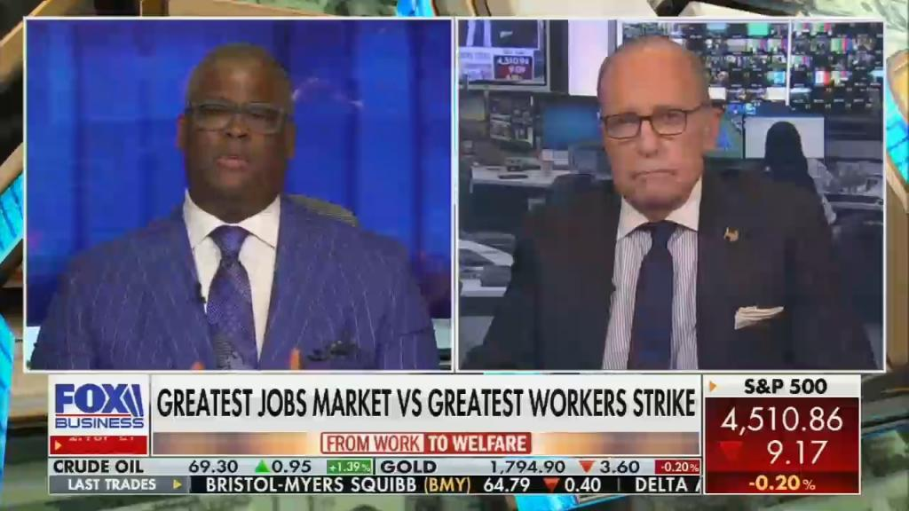 Charles Payne and Larry Kudlow on Fox Business