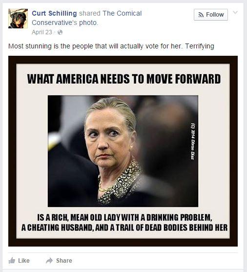 Schilling Clinton meme