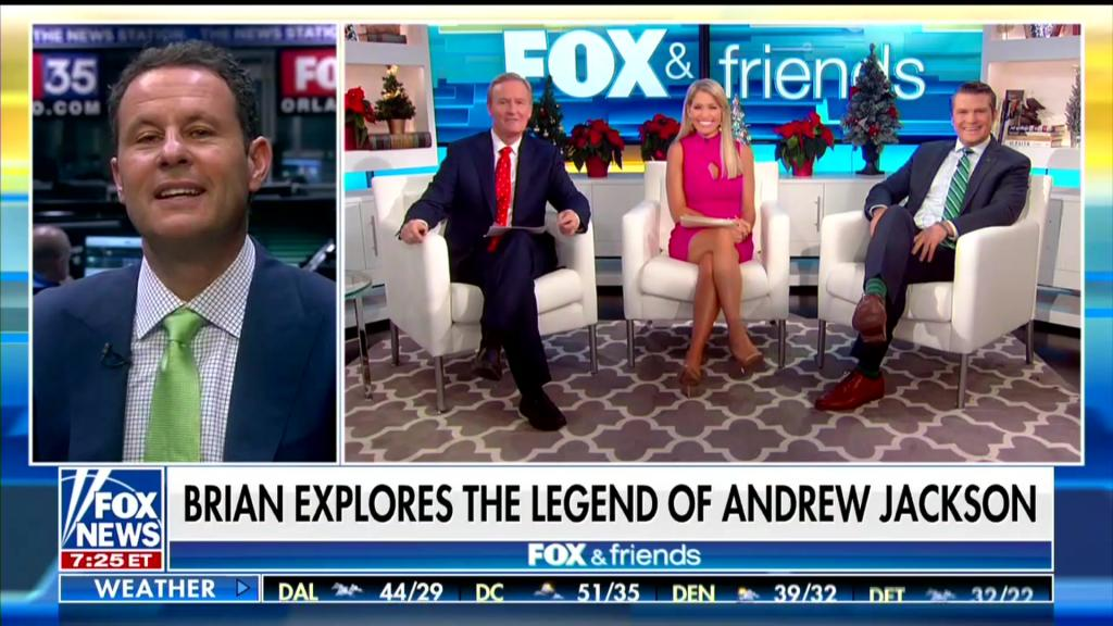Brian Kilmeade promoting his book on Fox and Friends