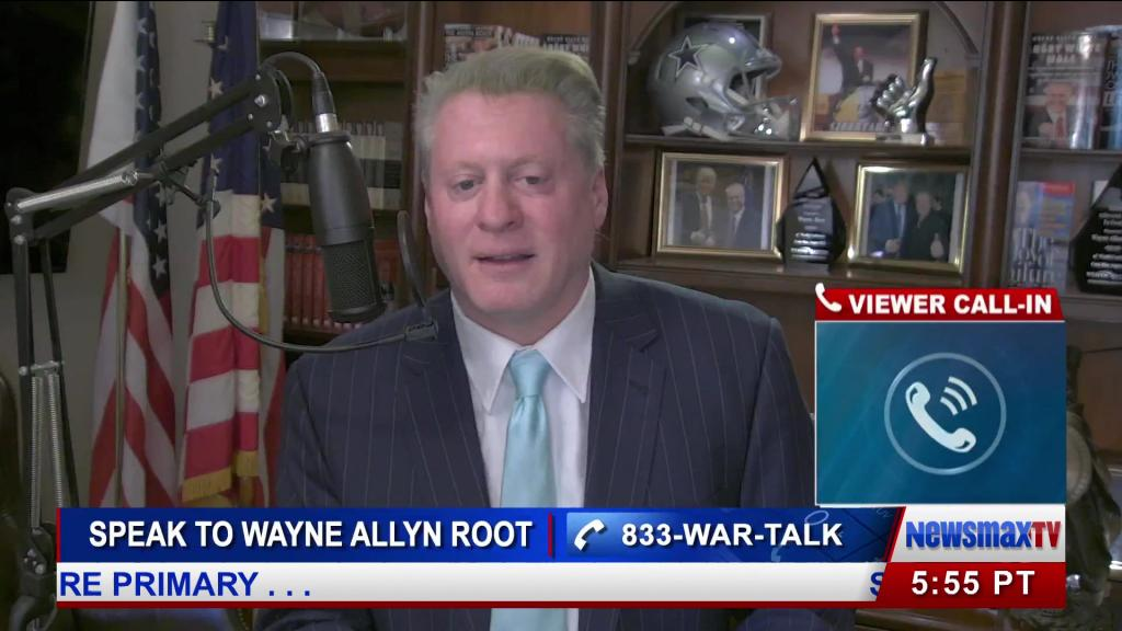 Wayne Allyn Root hosting his show