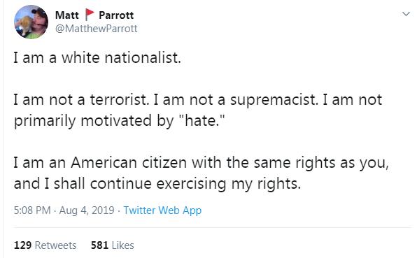 Parrott tweet
