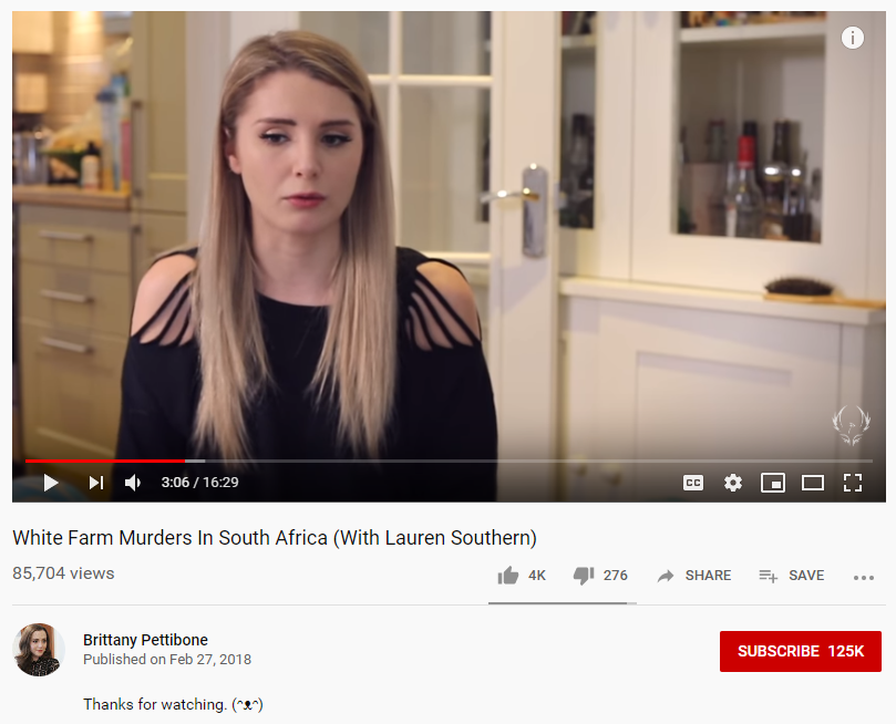 Pettibone Southern YouTube video