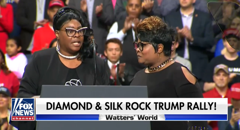 Fox News promotes Diamond and Silk in Green Bay