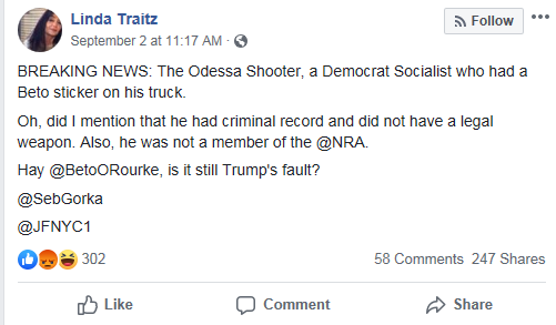 Facebook Beto false claim Gorka Fischer