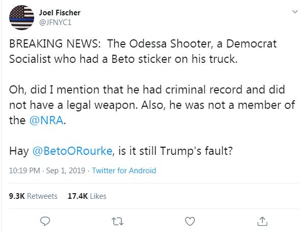 Joel Fischer Beto false claim