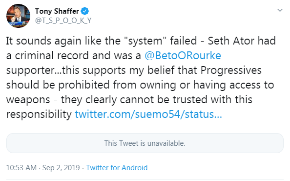 Tony Shaffer Beto false claim