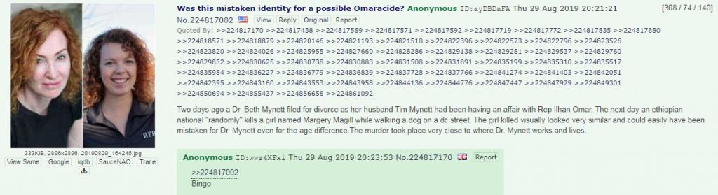 4chan Omar conspiracy theory