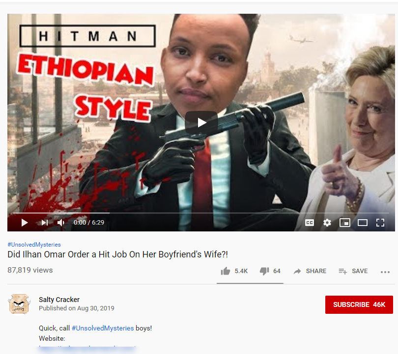 YouTube Omar conspiracy theory image