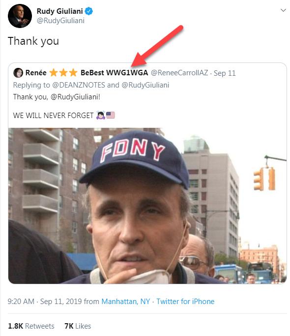 Giuliani Qanon tweet9