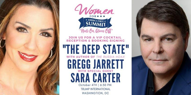 Sara Carter and Gregg Jarrett Trump International promo