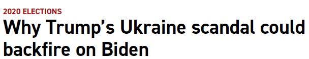 Politico on Biden/Trump/Ukraine