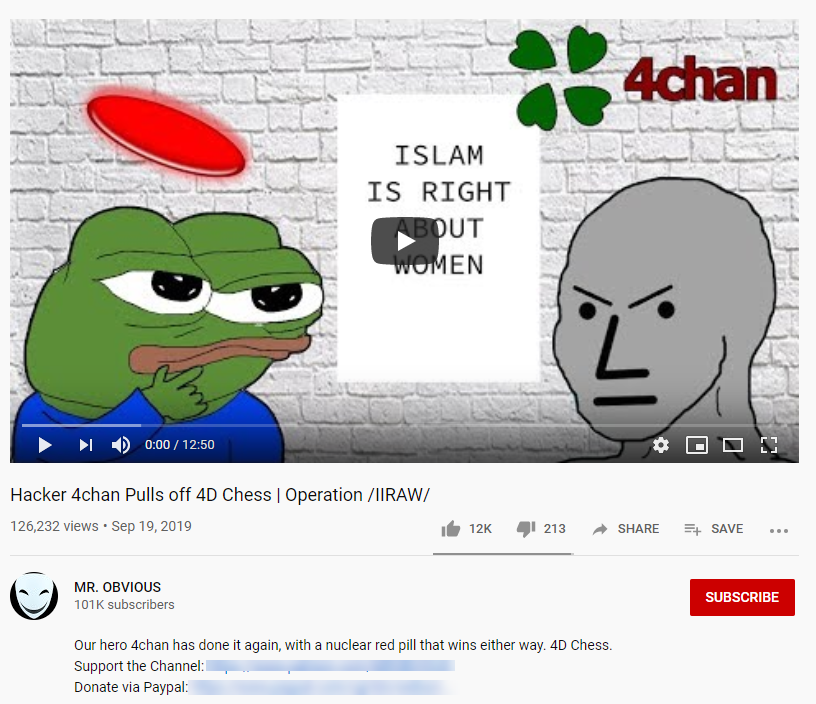 YouTube 4chan campaign1