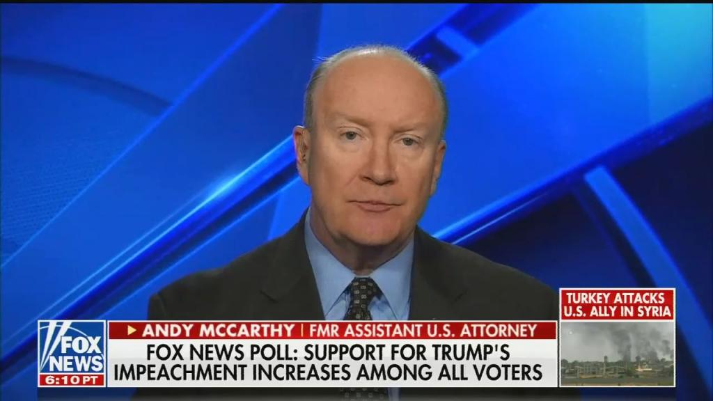 Andy McCarthy's shameless hypocrisy on impeachment