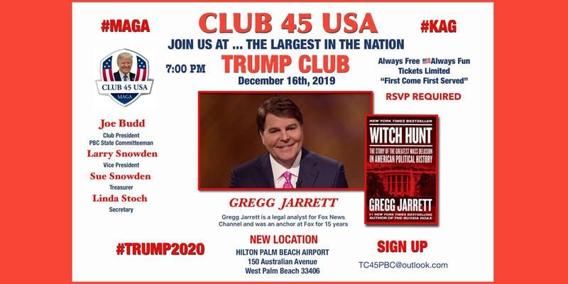 Gregg Jarrett Club 45 USA flyer