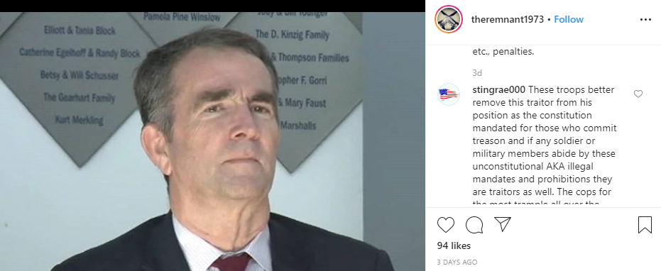 Instagram Virginia hoax1 comment