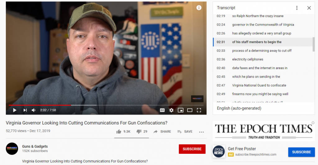 YouTube Virginia hoax2