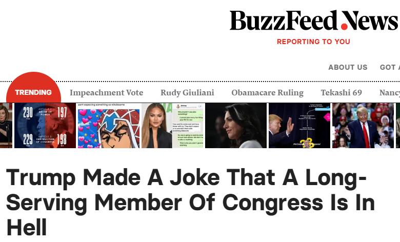 BuzzFeed News headline on Trump's rally
