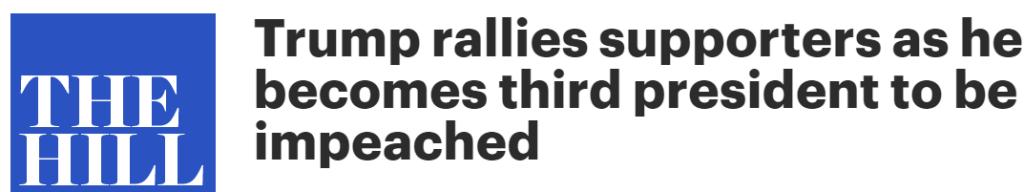 The Hill headline on Trump's rally